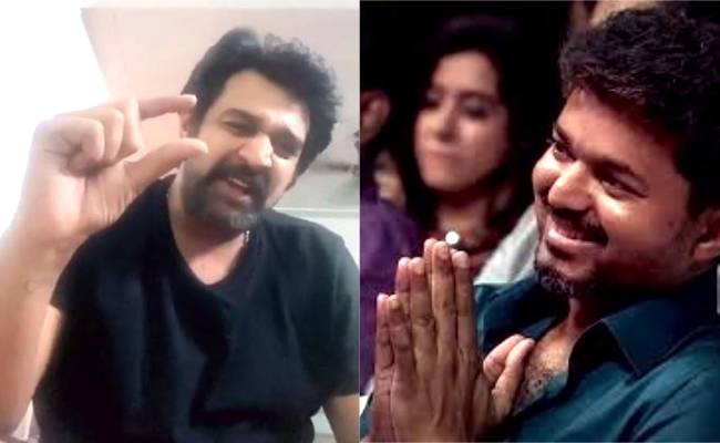 Chiranjeevi Sarja's TikTok video enacting Vijay's song