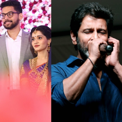 Chiyaan Vikram's daughter reception happened at Puducherry in the presence of fans