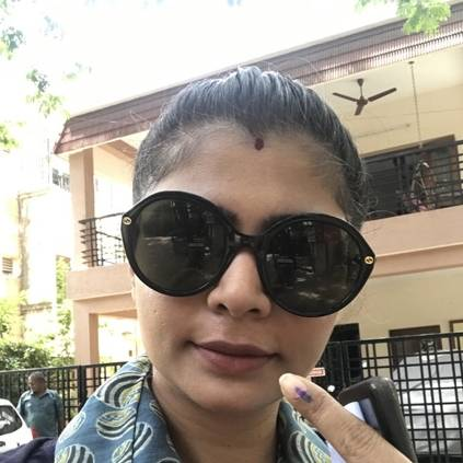 CS Amudhan trolls Chinmayi's picture from voting booth