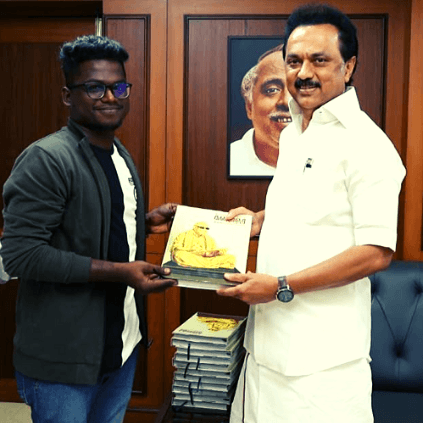 DMK leader MK Stalin meets rapper Arivu