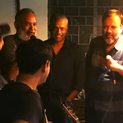 Gautham Vasudev Menon and Venkat Prabhu's New Year celebrations
