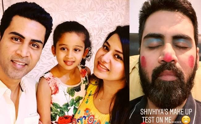 Height of Coronavirus Quarantine as singer Krish and Sangitha's daughter turns make up artist