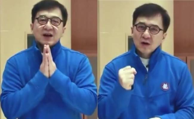 Jackie Chan's emotional video message to India on Corona