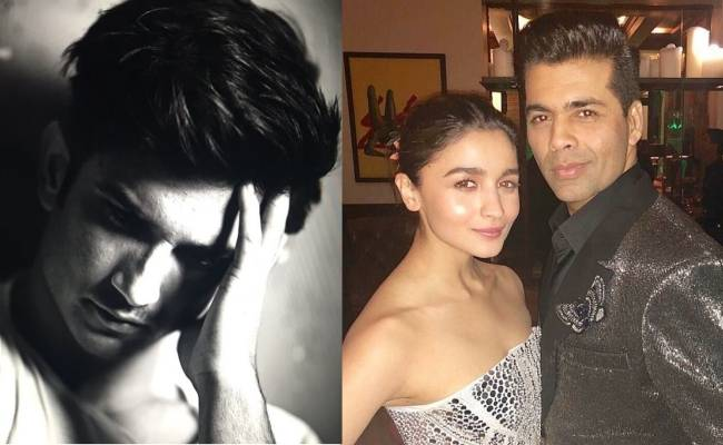 Karan Johar and Alia Bhatt lose followers after Sushant's death and nepotism contoversy