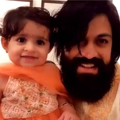 K.G.F Yash shares his daughter's adorable Diwali wish video