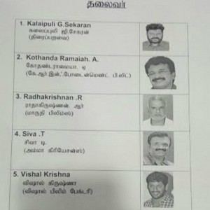 Candidates List: Producers Council Election