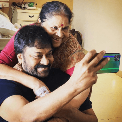 Megastar Chiranjeevi celebrates the birthday of his mother Anjana Devi
