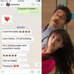 Samantha's whatsapp chat goes viral