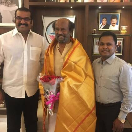 Napoleon seeks blessings from Superstar Rajinikanth for Christmas Coupon film