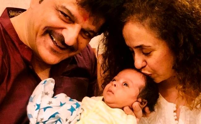 Popular hero's step father Rajesh Khatter shares first glimpse of baby boy ft Shahid Kapoor