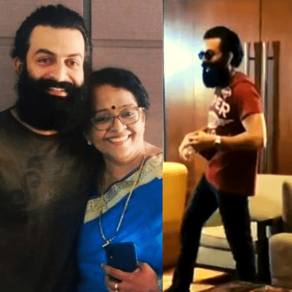 Prithviraj's mother reacts to his decison to leave the country for Aadujeevitham