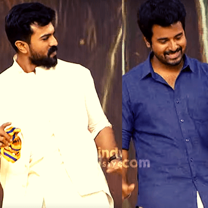 Ram Charan and Sivakarthikeyan's performance for Dhanush's song at Behindwoods Gold Medals 2019