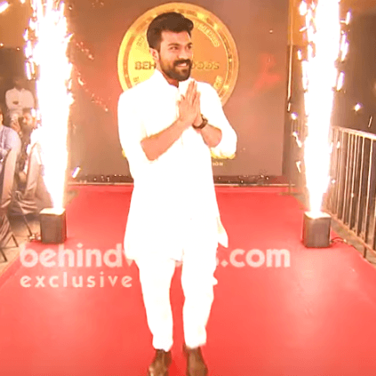 Ram Charan with Sivakarthikeyan and Yash at Behindwoods Gold Medals 2019