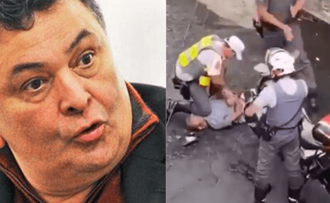 Rishi Kapoor shared footage of a citizen Knocked down in Italy for not quarantining - COVID19