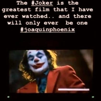 Samantha heaps praises on Joaquin Phoenixs Joker