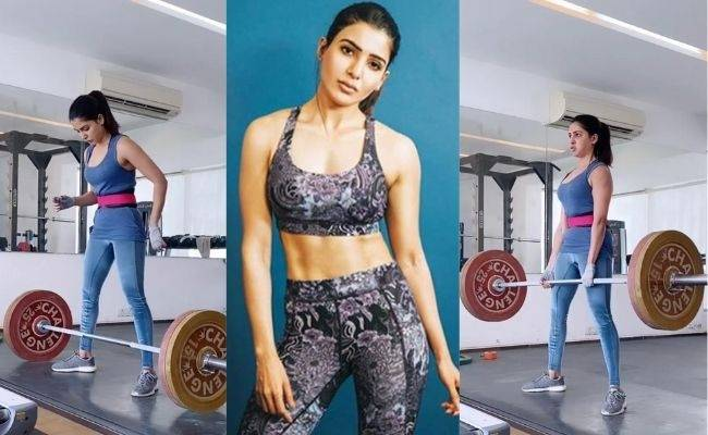 Samantha shares fitness training videos, lifts 100 kgs weight!