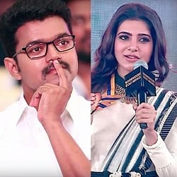 Samantha's winning speech where she talks about Vijay and Theri