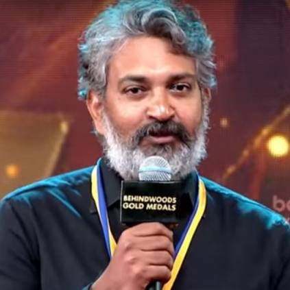 SS Rajamouli stage moments at Behindwoods Gold Medals 2018