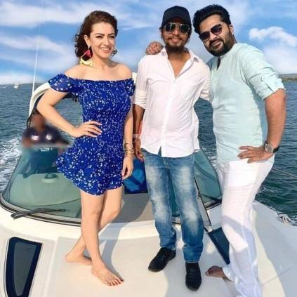 STR takes part in Hansika's Maha song shoot in new look