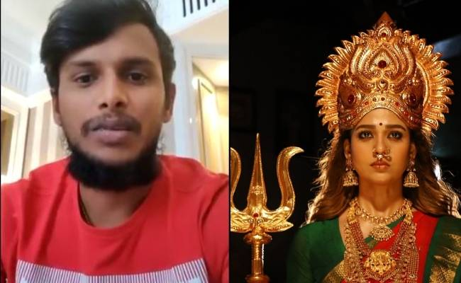 Sunrisers Hyderabad Natarajan wishes Nayanthara Mookuthi Amman