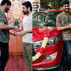 Suriya gifts a car to Vignesh Shivn for TSK
