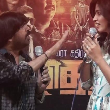 T Rajendar and Dhansika's verbal fight at Vizhithiru press meet