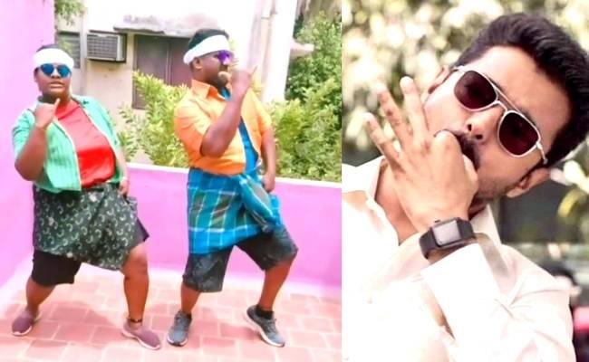 Thalapathy Vijay's Bigil Pandiamma Indraja pays a dancing tribute with father Robo Shankar, watch video