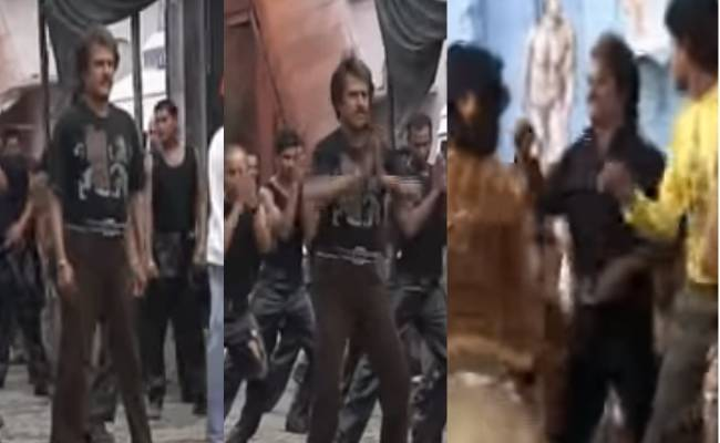 Throwback video of Rajini's dance practice in Sivaji movie song