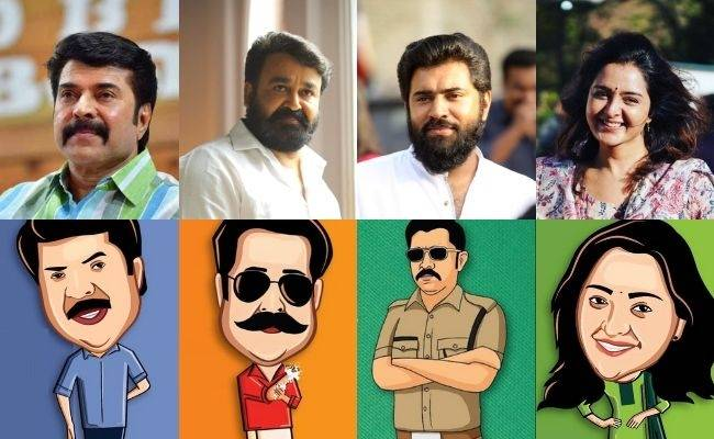 Top Actors Mammootty Mohanlal Nivin Pauly Manju Warrier take part in spreading Break the chain campaign