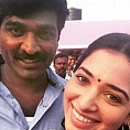 What are Vijay Sethupathi and Tamannaah doing in Courtallam?