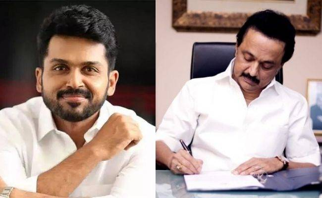 VIDEO: Karthi visits MK Stalin along with other film personalities, meets press - What happened? Full Details