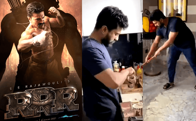 VIDEO: RRR actor Ram Charan takes up SS Rajamouli's Be The Real Man challenge