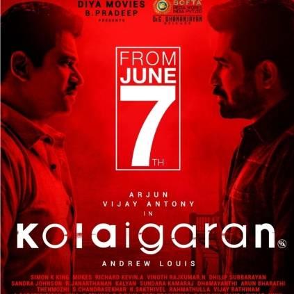 Vijay Antony and Arjun's Kolaigaren to release on June 7