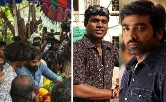 Vijay Sethupathi pays tribute to Vadivel balaji in person