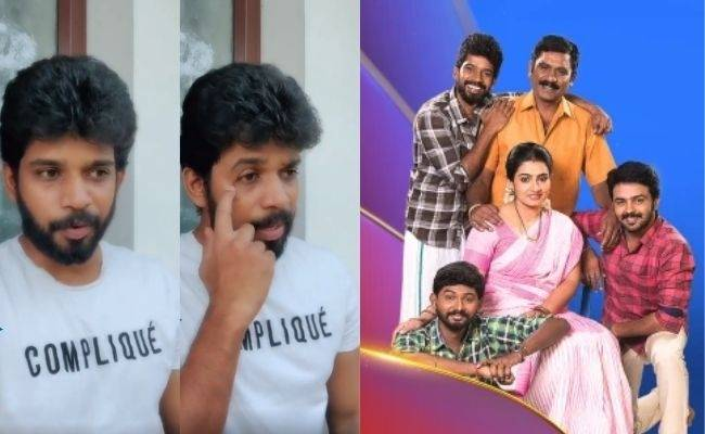 Vijay TV Pandian Stores Kathir fame Kumaran about news of dropping out of serial