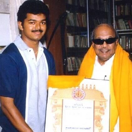 Vijay visits Kalaignar Karunanidhi at Kauvery Hospital
