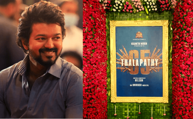 Vijay's macho look from Thalapathy 65 Pooja is trending; viral pics here