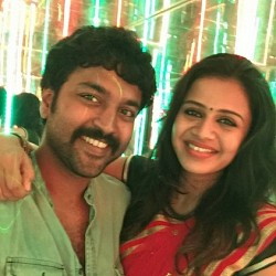 VJ Anjana shares about her husband Chandran's kissing scene in Party