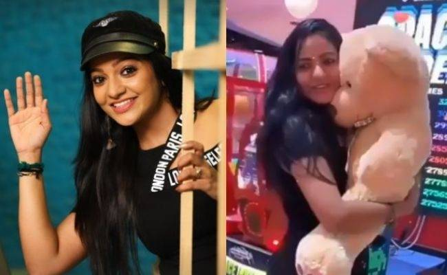 VJ Chithu with Teddy video goes viral now - fans trend ft VJ Chitra