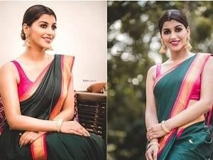 Yashika Aannand's saree clad pics are a welcome departure from the usual tradition!
