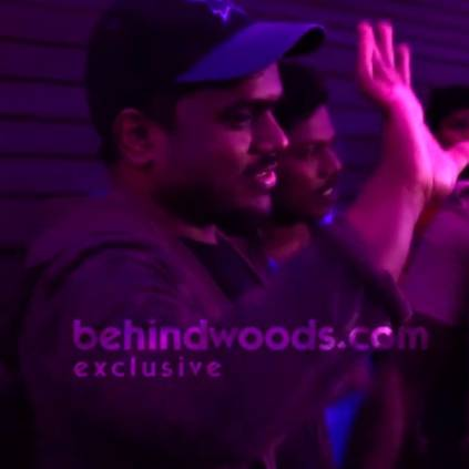 Yuvan Shankar Raja and Shraddha Srinath's mass entry during Thala Ajith's Nerkonda Paarvai Rohini fdfs