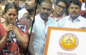 1200 Kg Cake: World Record & Emotions at the same time | Raghava Lawerence | Tinsel Nodigal