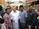 Ajith spotted at Tirupathi