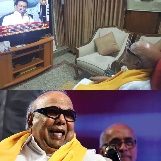 Karunanidhi likes to watch TV - cricket and news channels