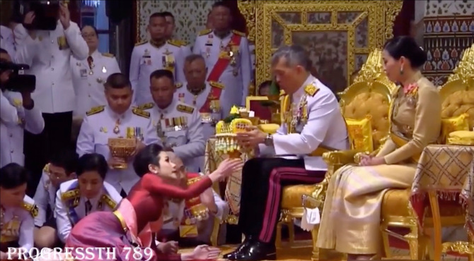thailand king releases lover prison orders to join germany girlfriends