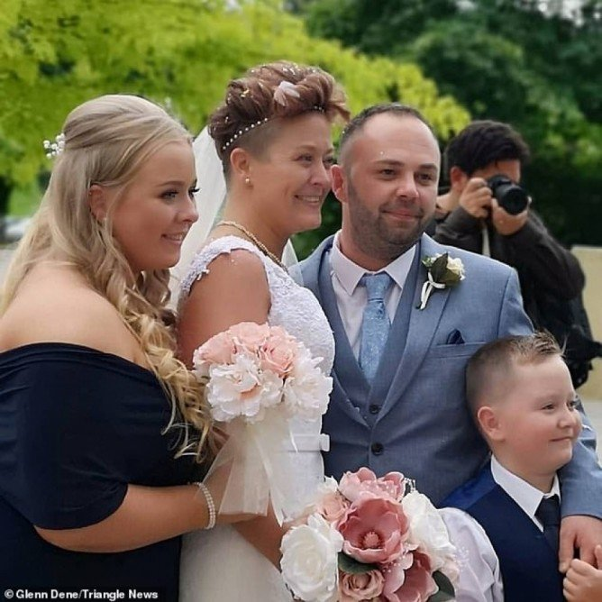Bride who suffers daily seizures collapses in her husband's arms
