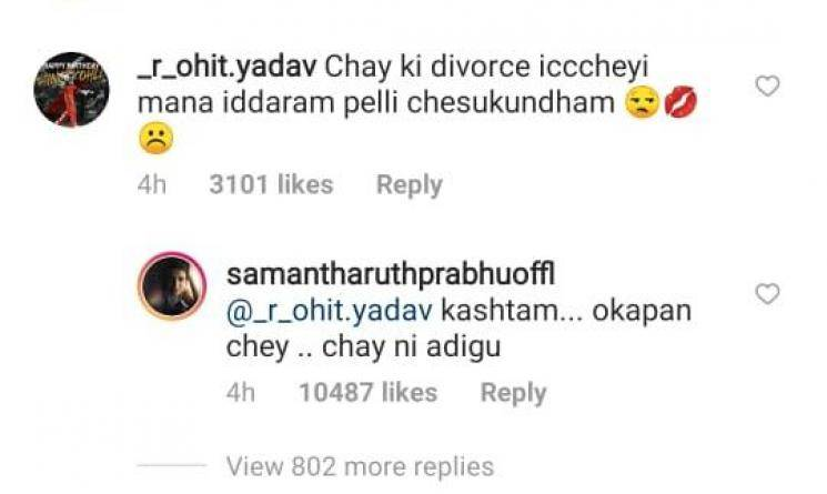 Fan asks Samantha to divorce Chaitanya and marry him, here's how she reacted