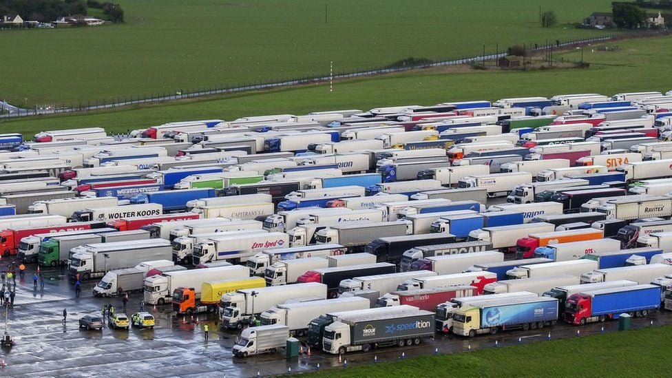 Thousands of truck drivers scramble for tests at UK port after France