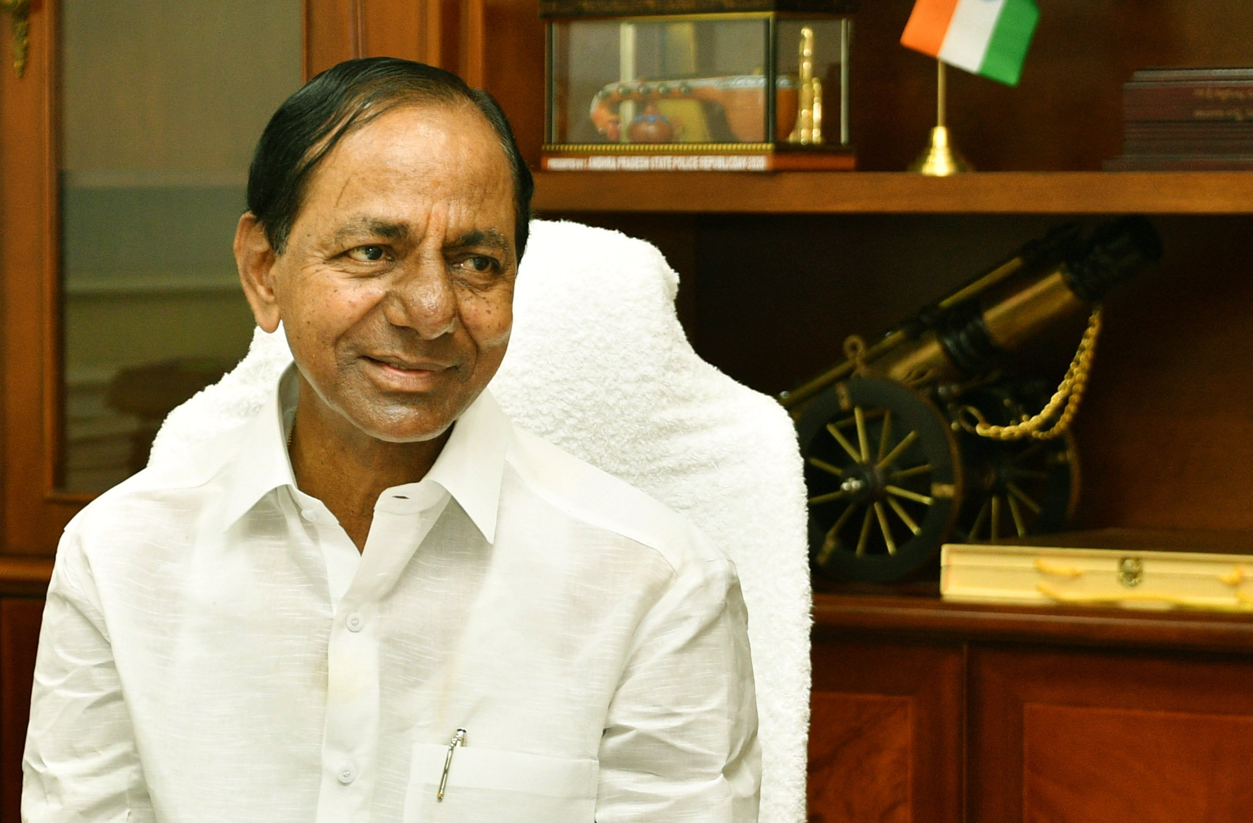 Newyear gift Telangana CM announces salary hike for all govt employees