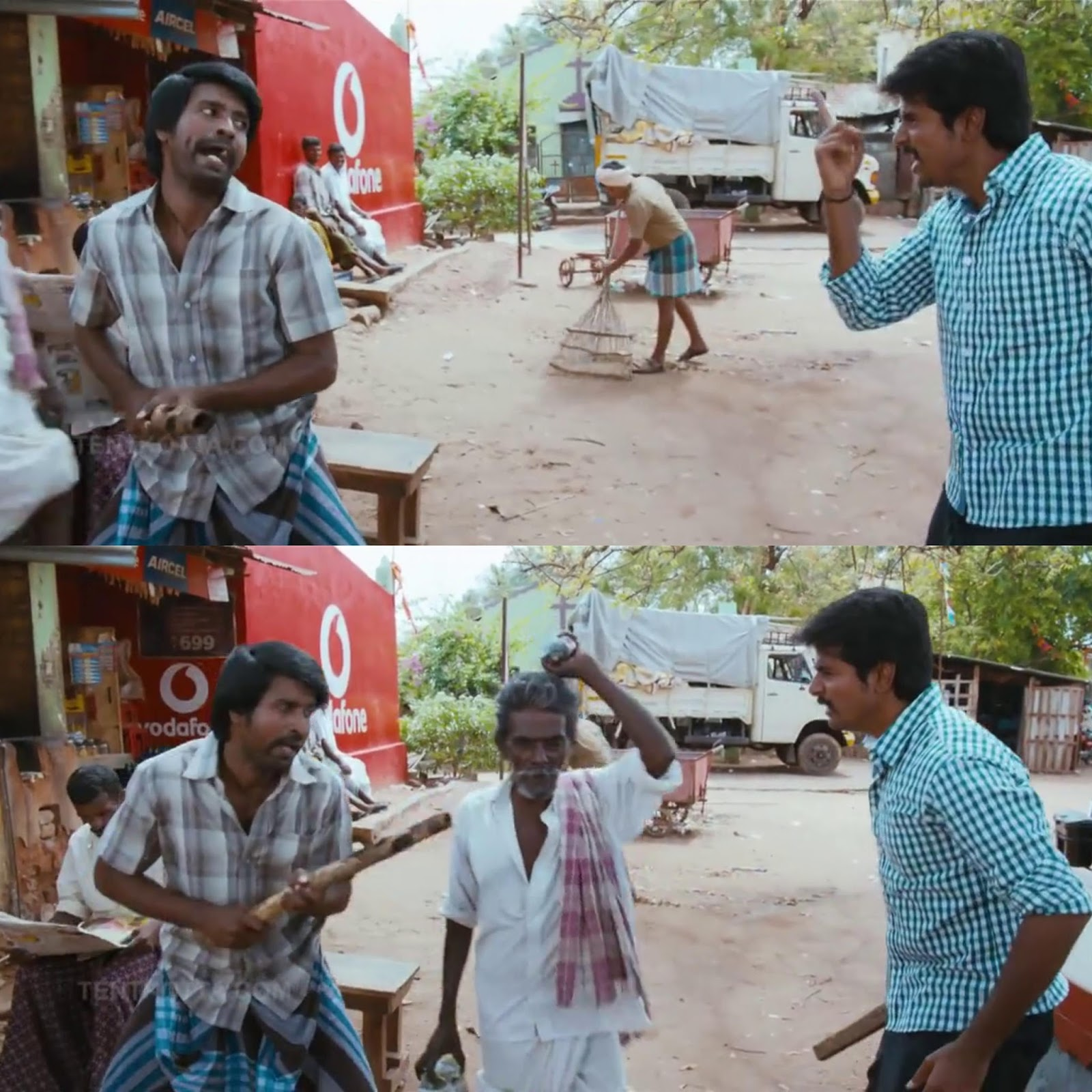 Sivakarthikeyan Soori mock fight video goes viral